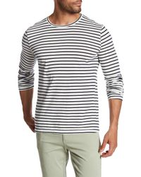 Save Khaki - White Long Sleeve Marine Stripe Crew Neck Tee for Men - Lyst