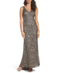 Adrianna Papell - Multicolor Sequin Gown - Lyst