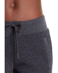 Marc New York - Gray Spliced Ribbed Joggers - Lyst