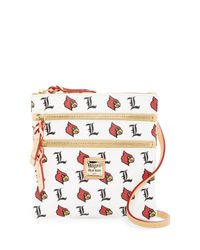 Dooney & Bourke - White Louisville Triple Zip Crossbody - Lyst