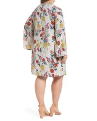 Glamorous - Multicolor Print Bell Sleeve Shift Dress (plus Size) - Lyst