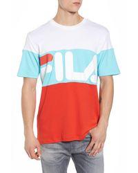Fila - Multicolor Vialli Colorblock Logo T-shirt for Men - Lyst