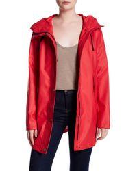 Nautica - Red Hooded Anorak - Lyst