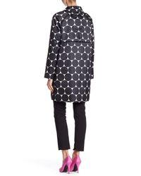 Kate Spade - Black Dot Printed Trench Coat - Lyst