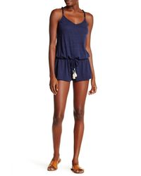 Lucky Brand | Blue 'fly Away' Romper Cover-up | Lyst