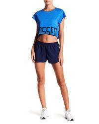Reebok - Blue Spartan Running Shorts - Lyst