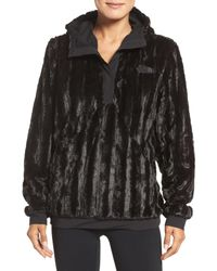 768438c3e4cc The North Face Furlander Faux Fur Pullover in Black - Lyst
