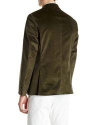 Spurr By Simon Spurr - Olive Green Two Button Notch Lapel Slim Fit Corduroy Sport Coat for Men - Lyst