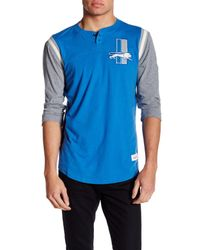 Mitchell & Ness - Blue Nfl Rushing Play Henley for Men - Lyst