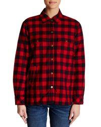 Current/Elliott - Red The Workman Shirt Jacket - Lyst