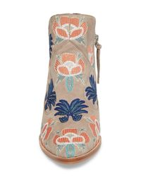Rebecca Minkoff - Blue Lulu Too Flower Embroidered Bootie (women) - Lyst