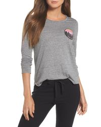Chaser - Gray Jersey Tee - Lyst