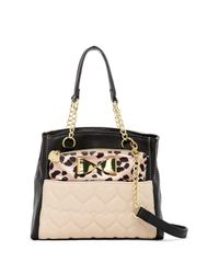 Betsey Johnson | Black Medium Shopper & Removable Bow Pouch Set | Lyst