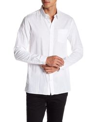 Vince - White Double Weave Shirt for Men - Lyst