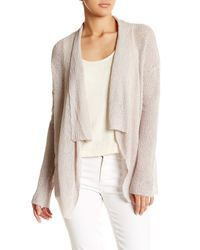 Acrobat - Natural Waterfall Linen Cardigan - Lyst