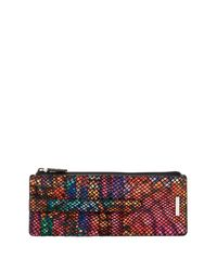Lodis Multicolor Elche Slim Printed Leather Card Case