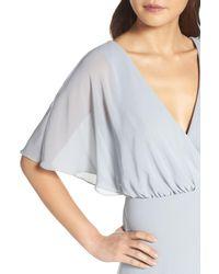 Watters - Blue Lottie A-line Chiffon Gown - Lyst