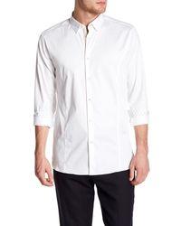 Ted Baker - White Algravy Trim Fit Shirt for Men - Lyst