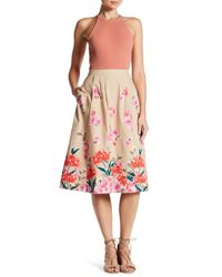 Lands' End - Multicolor Floral Pattern Midi Skirt - Lyst
