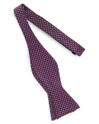 Calibrate - Purple One Way Geometric Silk Bow Tie for Men - Lyst