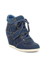 Ash | Blue Bowie S Wedge Sneaker | Lyst