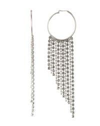 Loren Hope - Metallic Joan Crystal Chain Hoop Earrings - Lyst