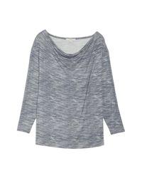 Sejour - Gray Dolman Sleeve Space Dye Tee (plus Size) - Lyst