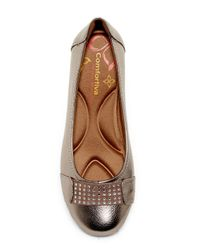 Comfortiva - Brown Sallis Jewel Embellished Flat - Wide Width Available - Lyst