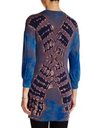 Go Couture - Blue Long Sleeve Hi-lo Hem Sweater - Lyst