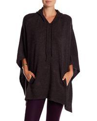Acrobat | Black Hooded Knit Poncho | Lyst