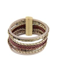 Saachi | Multicolor Braided Multi-cord Genuine Leather Bracelet | Lyst
