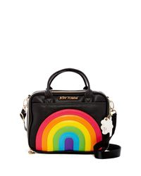Betsey Johnson - Black Rainbow Lunch Tote - Lyst