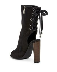 Cape Robbin - Black Connie Lace Up Boot - Lyst