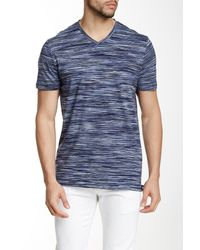 Perry Ellis | Blue Space Dye V-neck Tee for Men | Lyst