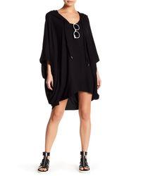 Mikoh Swimwear | Black Cardiff Oversized Hooded Caftan | Lyst