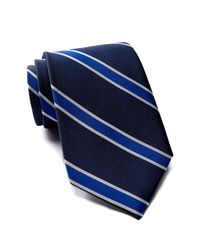 Tommy Hilfiger - Blue Silk Vintage Stripe Tie for Men - Lyst