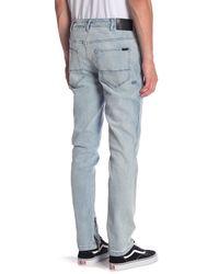 NANA JUDY Blue The Carter Zip Cuff Jeans for men