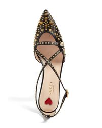 Gucci - Black Unia Studded Pump - Lyst