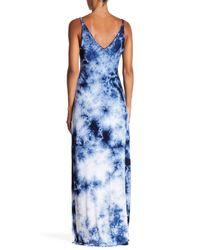 Fifteen Twenty | Blue Tie-dye Maxi Dress | Lyst