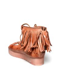 Bed Stu - Brown Madison Fringe Platform Sandal - Lyst