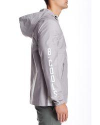 Barney Cools - Gray Zip Spray Hoodie Jacket for Men - Lyst
