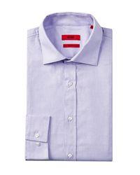 HUGO | Purple Endersonx Modern Fit Dress Shirt for Men | Lyst