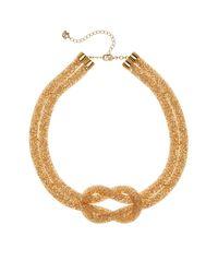Swarovski - Yellow Stardust Knot Necklace - Lyst