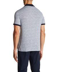 Original Penguin - Blue Contrast Collar Slub Polo Shirt for Men - Lyst