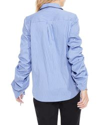 Vince Camuto - Blue Simple Stripe Shirt - Lyst