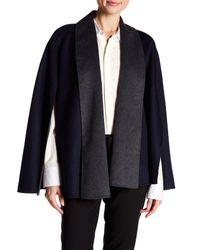 T Tahari | Blue Gabby Wool Blend Cape | Lyst