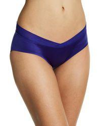 Sam Edelman Blue Crossfront Hipster Panties