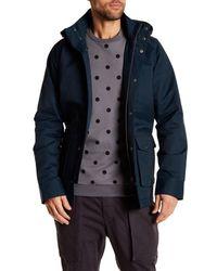 Ben Sherman | Blue Funnel Neck Trench Coat for Men | Lyst
