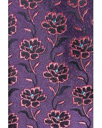 Ted Baker - Purple Floral Silk Tie for Men - Lyst
