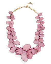 BaubleBar - Pink Seaglass Bib Necklace - Lyst